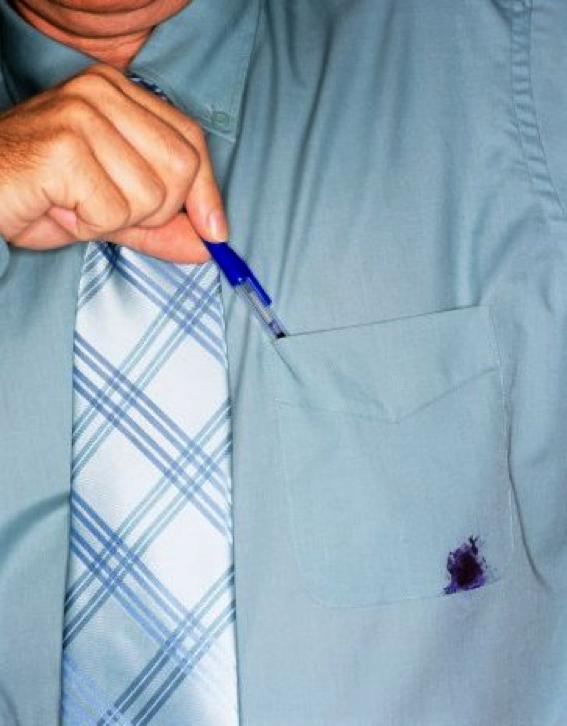 Как удалить пятно от чернила с одежды от шариковой ручки фото